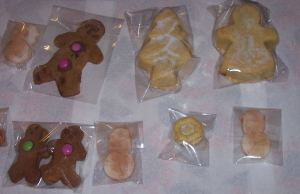 ginger bread man and mincemeat pies